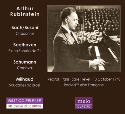 Arthur Rubinstein Recital Salle Pleyel 1948 Meloclassic