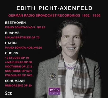 Edith Picht-Axenfeld German Radio Recordings 1952-1956 CD Release Meloclassic 2019