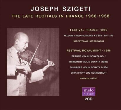 Joseph Szigeti Recitals in France CD Release Meloclassic 2020