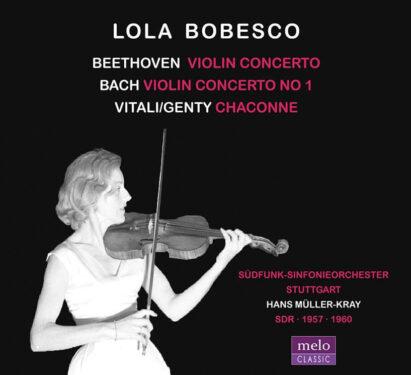Lola Bobesco Beethoven Bach Vitali CD Release Meloclassic 2019
