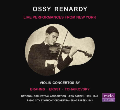 Ossy Renardy ∙ Live Performances · CD Release Meloclassic 2019