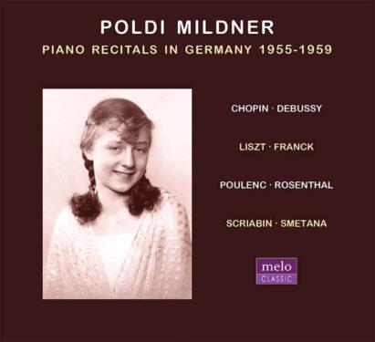 Poldi Mildner Piano Recitals in Germany 1955-1959 CD Release Meloclassic 2020