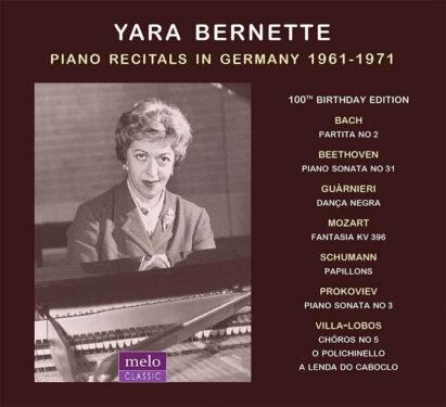 Yara Bernette Piano Recitals in Germany 1961-1971 CD Release Meloclassic 2020